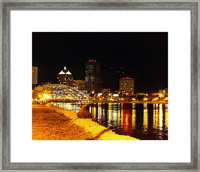 Rochester At Night Framed Print by Tim Buisman