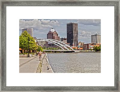 Rochester By The River Framed Print