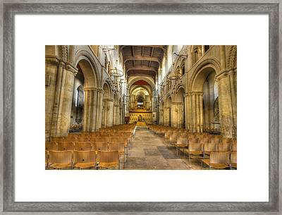 Rochester Castle Kent Hdr  Framed Print by David French