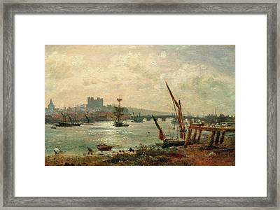 Rochester Cathedral And Castle, Frederick Nash Framed Print