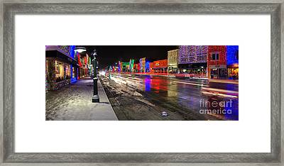 Rochester Michigan Christmas Lights Framed Print by Twenty Two North Photography