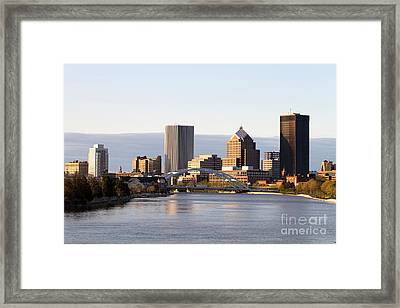 Rochester New York Skyline Framed Print