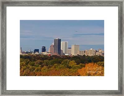 Rochester Skyline Framed Print
