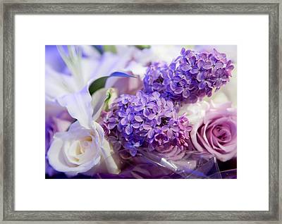 Framed Print featuring the photograph Rochester Wedding Bouquet by Courtney Webster