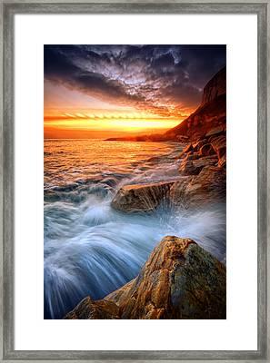Rock A Nore Splash Framed Print by Mark Leader