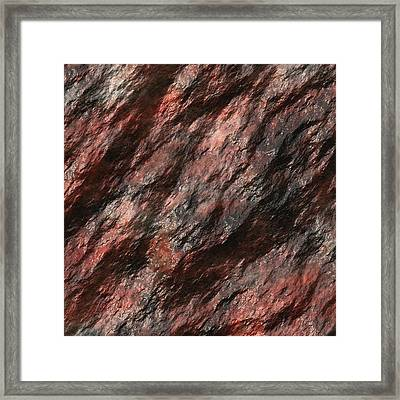 Rock Abstract 02 Framed Print