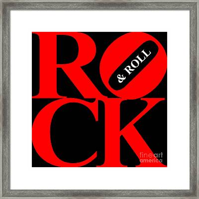 Rock And Roll 20130708 Red Black White Framed Print by Wingsdomain Art and Photography