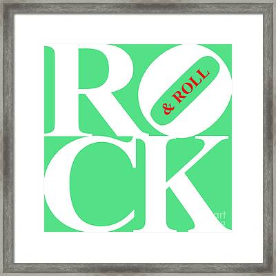 Rock And Roll 20130708 White Green Red Framed Print by Wingsdomain Art and Photography