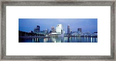 Rock And Roll Hall Of Fame, Cleveland Framed Print by Panoramic Images
