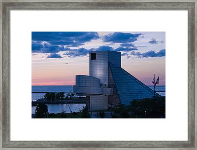 Rock And Roll Hall Of Fame Framed Print by Dale Kincaid
