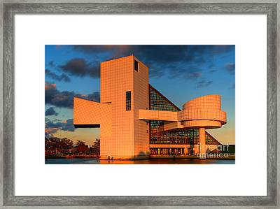 Rock And Roll Hall Of Fame Framed Print by Jerry Fornarotto