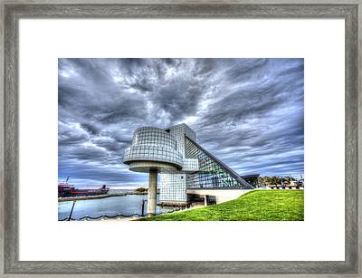 Rock And Roll Hall Of Fame Framed Print by Shawn Everhart