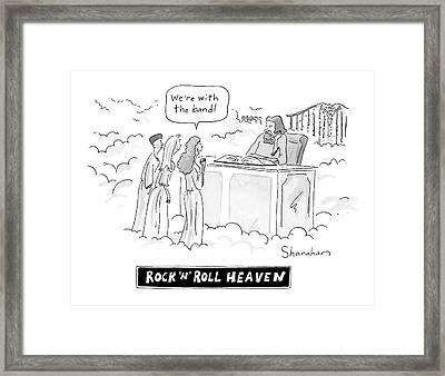 Rock And Roll Heaven Framed Print by Danny Shanahan