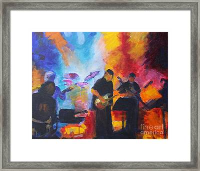 Rock And Roll Framed Print by Jan Bennicoff
