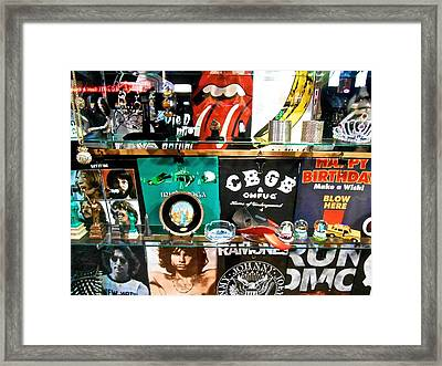 Framed Print featuring the photograph Rock And Roll On St. Marks   Nyc by Joan Reese