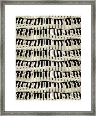 Rock And Roll Piano Keys Framed Print