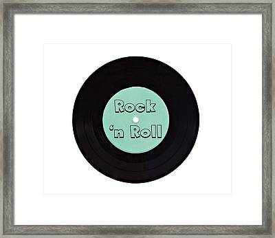 Vinyl Record Rock N Roll Framed Print