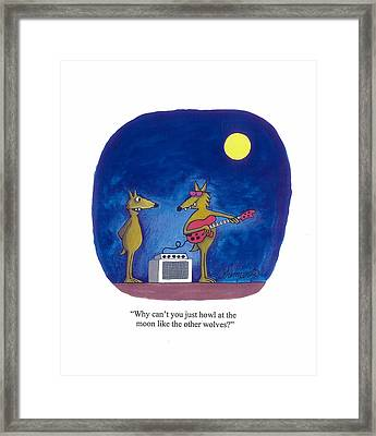 Rock And Roll Wolf Framed Print