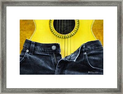 Rock And Roll Woman Framed Print by Bill Cannon