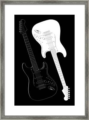Rock And Roll Yin Yang Framed Print
