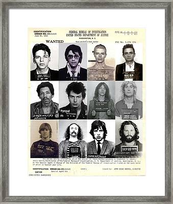 Rock And Roll's Most Wanted - Part II Framed Print by Lee Dos Santos