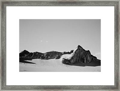 Framed Print featuring the photograph Rock And Sand by Lana Enderle