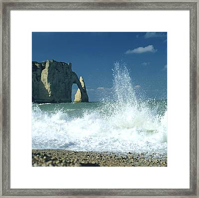 Rock Arch. Etretat. Seine-maritime. Normandy. France. Europe Framed Print by Bernard Jaubert