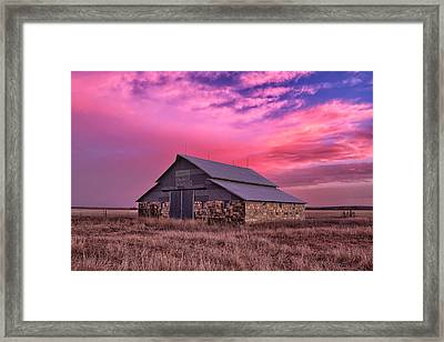 Rock Barn Framed Print by Thomas Zimmerman