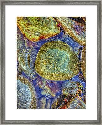 Rock Bed Framed Print by Olivier Calas