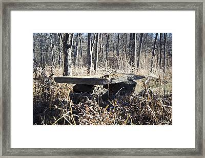 Rock Bench Framed Print