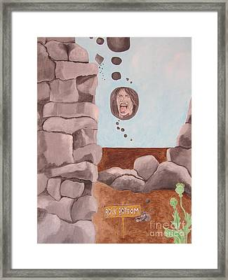 Rock Bottom Framed Print by Jeepee Aero