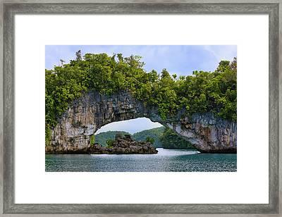 Rock Bridge, Rock Islands, Palau Framed Print by Keren Su