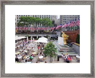 Rock Center Fourth Framed Print by Ed Weidman