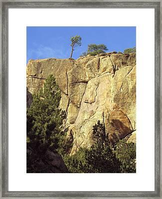 Rock Cliff Landscape Colorado Framed Print by Ann Powell