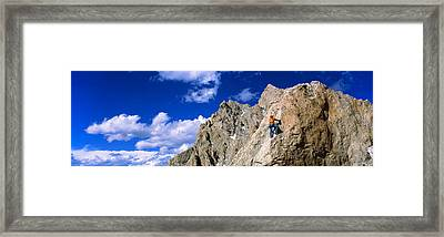 Rock Climber Grand Teton National Park Framed Print by Panoramic Images