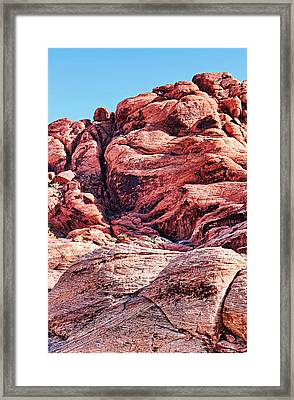 Rock Climbers Framed Print by Judy Vincent