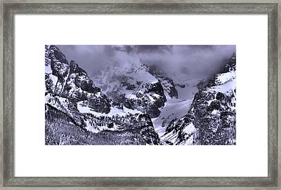 Grand Teton Mountains In Winter Framed Print by Dan Sproul