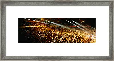 Rock Concert Interior Chicago Il Usa Framed Print by Panoramic Images