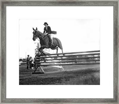 Rock Creek Hunt Club Jumps Framed Print by Underwood Archives