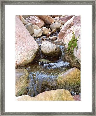 Framed Print featuring the photograph Rock Creek by Kerri Mortenson