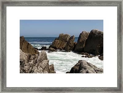 Rock Crowned Foam Framed Print by Juan Romagosa