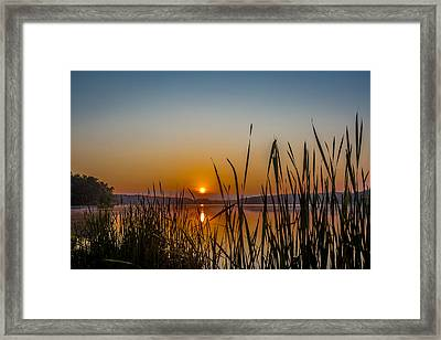 Rock Cut State Park Sunrise Framed Print by Todd Reese