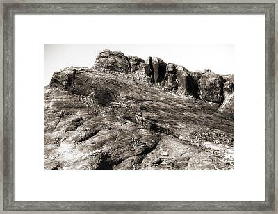 Rock Details Framed Print by John Rizzuto