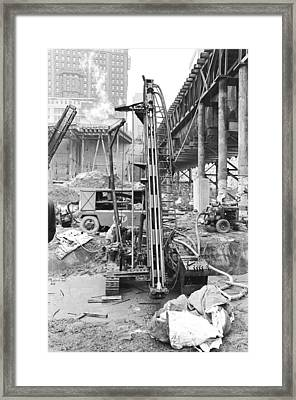 Rock Drill Wtc Framed Print