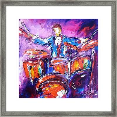 Rock Drummer Painting Framed Print