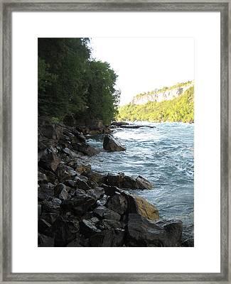 Rock Edge River Framed Print