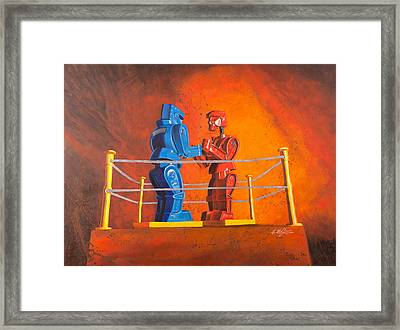 Rock 'em Sock 'em Robots Framed Print by Karl Melton