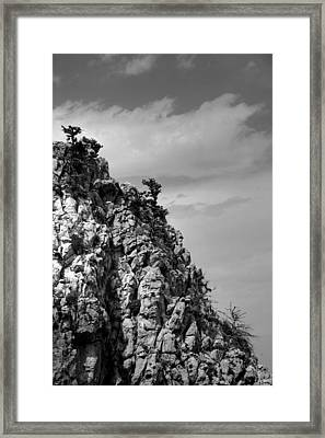 Framed Print featuring the photograph Rock Face At St. Hillarion by Jim Vance