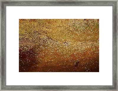 Rock Face - Seaside Abstract Framed Print by Aidan Moran
