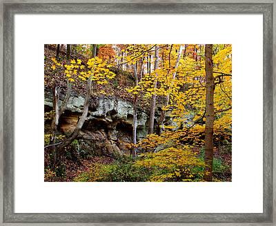 Rock Fall Gorge Framed Print